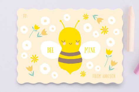 Little Garden Bee Classroom Valentine's Cards