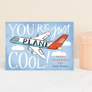 Plane Cool Classroom Valentine's Cards