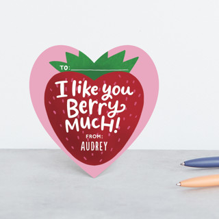 Berry Much Classroom Valentine's Cards