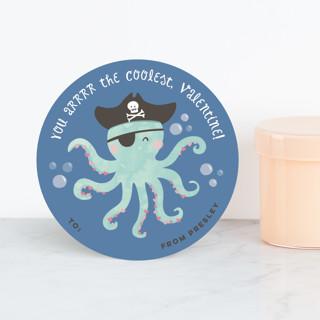 Octopus Pirate Classroom Valentine's Cards