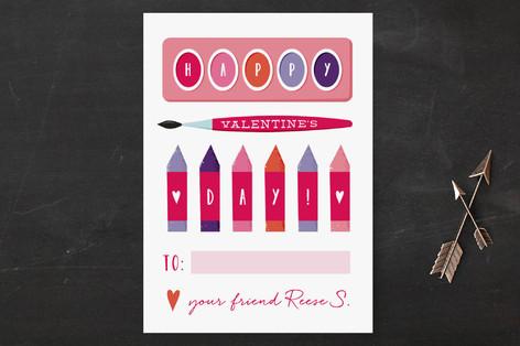 Budding Artist Classroom Valentine's Cards