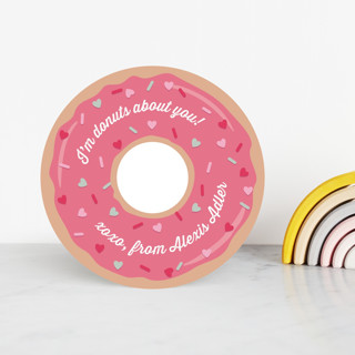 Donuts About You Classroom Valentine's Cards