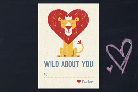 King Of The Jungle Classroom Valentine's Day Cards