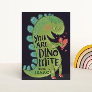Dino-Mite Valentine Classroom Valentine's Cards