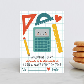According to My Calculations Classroom Valentine's Cards