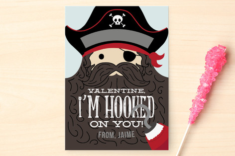 Hooked on You Classroom Valentine's Cards