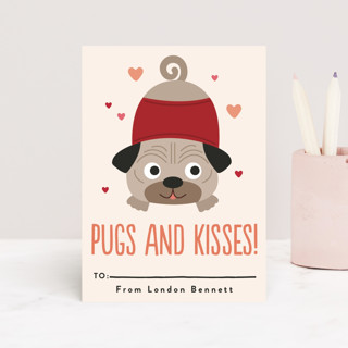 Pugs & Kisses Classroom Valentine's Cards