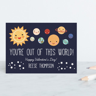 You're Out Of This World Classroom Valentine's Cards