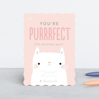 You're Purrfect Classroom Valentine's Cards