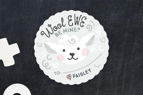 Wool Ewe Be Mine Classroom Valentine's Cards