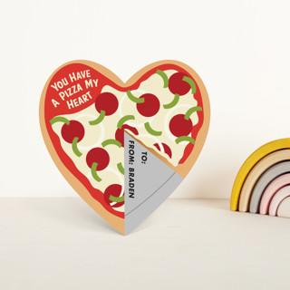 Pizza My Heart Classroom Valentine's Cards