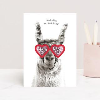 llama llove Classroom Valentine's Cards