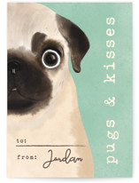 Pugs and kisses by Gwen Bedat
