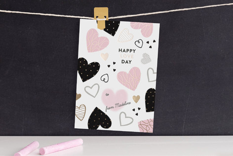 Art Hearts Foil Valentine Cards