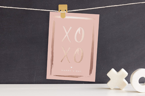 XOXO LOVE Foil Valentine Cards