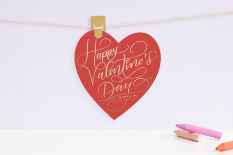 HAPPY Foil Valentine Cards