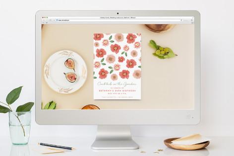 Pretty Poppies Birthday Party Online Invitations