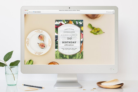 Lettuce Celebrate! Birthday Party Online Invitations