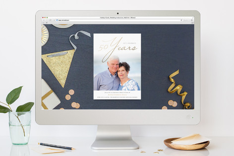 Timeless Anniversary Party Online Invitations