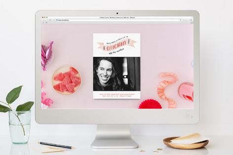 Off the Market Bachelorette Party Online Invitations