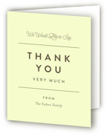 collected Bris and Baby Naming Thank You Card