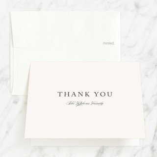 Monogrammed Bris and Baby Naming Thank You Card