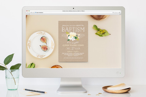 Pure Bloom Baptism and Christening Online Invitations