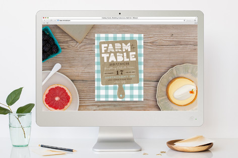 Farm to Table Brunch Online Invitations