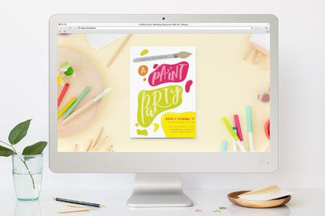 Let's Get Creative! Children's Birthday Party Online Invitations