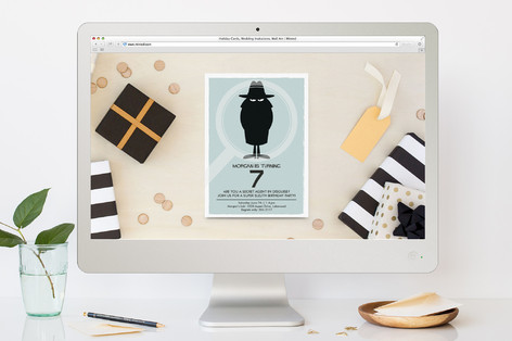 Secret Agent Children's Birthday Party Online Invitations