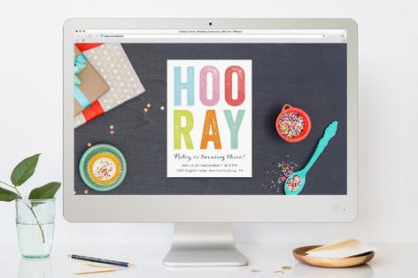 Hooray Children's Birthday Party Online Invitations