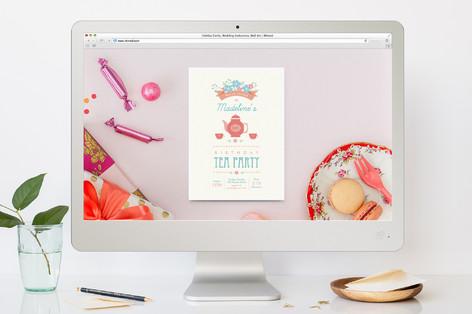 Garden Tea Children's Birthday Party Online Invitations