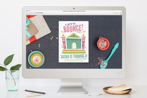 Let's Bounce Children's Birthday Party Online Invitations