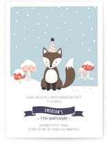 Snow fox birthday card