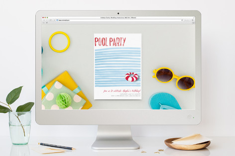 To the Pool Children's Birthday Party Online Invitations