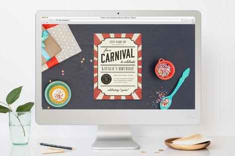 Vintage Carnival Children's Birthday Party Online Invitations