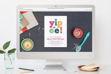 Yipee! Children's Birthday Party Online Invitations