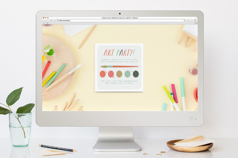 Paint Kit Children's Birthday Party Online Invitations