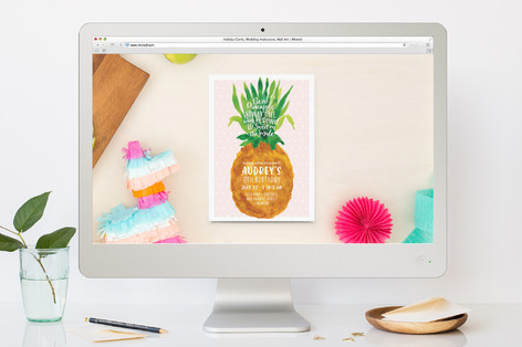 Be A Pineapple Children's Birthday Party Online Invitations