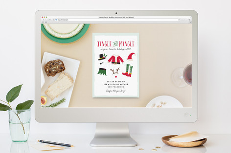 Pizelle Christmas Online Invitations