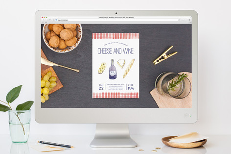 Cheese And Wine Cocktail Party Online Invitations