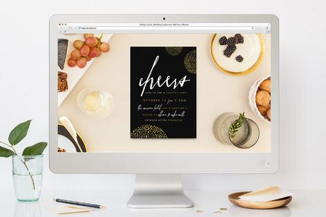 Sparkling Fete Cocktail Party Online Invitations