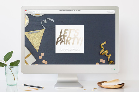 Bold Lets Party! Cocktail Party Online Invitations