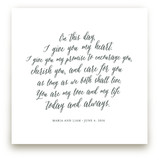 Your Vows as an Art Print