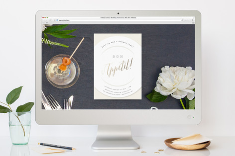 Bon Appetit Dinner Party Online Invitations