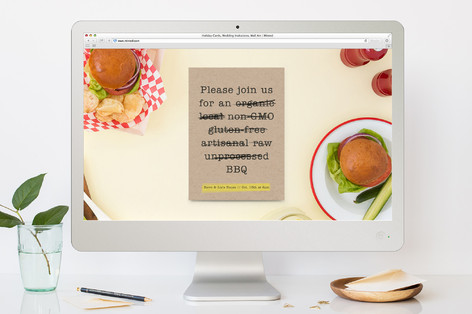 Buzzword - Free BBQ Dinner Party Online Invitations