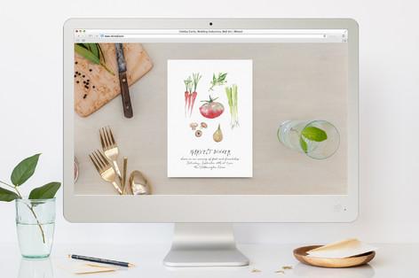 Garden Splendor Dinner Party Online Invitations
