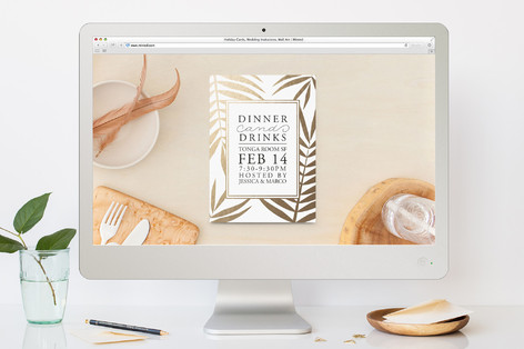 Golden Palms Dinner Party Online Invitations
