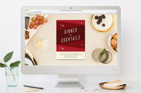 Mod Dinner Dinner Party Online Invitations