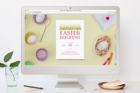 Spring Egg Hunt Easter Online Invitations